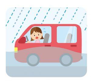猛烈な台風で車が水没しそうになった場合の対策